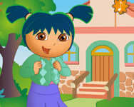 Dora at school dress up Dorás játékok
