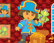 Sort my tiles Dora the pirate Dorás játékok